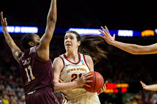 Former Iowa State star Bridget Carleton will have to fight for a roster spot with her WNBA team.