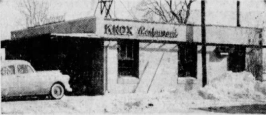 Knox's Cafe, in operation on Des Moines' north side for the better part of the 20th century, was opened in 1936 and moved to this location on Euclid in 1956, where it remained until it was torn down in 1995.