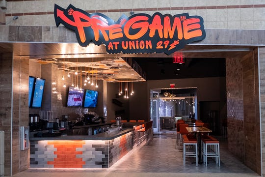 Pregame is an espresso bar featuring coffee, sodas, energy drinks, decked out doughnuts and sundaes.