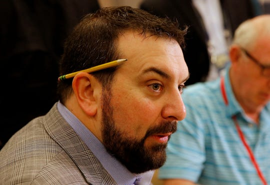Detroit Lions head coach Matt Patricia speaks to the media Tuesday.