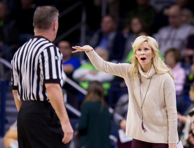Michigan State coach Suzy Merchant