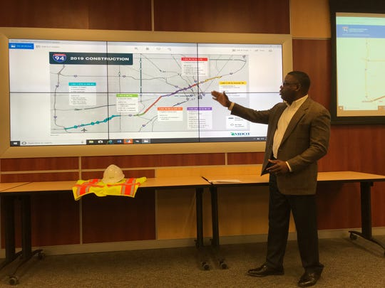 MDOT construction engineer Kay Adefeso talks about the project to replace the Brush Street bridge over I-94.