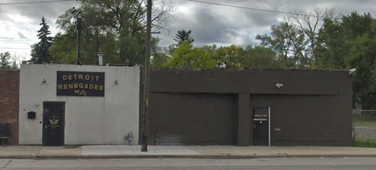The Detroit Renegades Motorcycle Club headquarters on W. 8 Mile in Detroit.