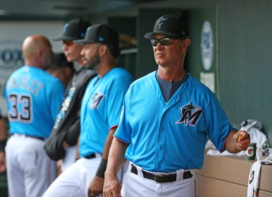 Evansville native Don Mattingly is 219-265 in three seasons as manager of the Miami Marlins.