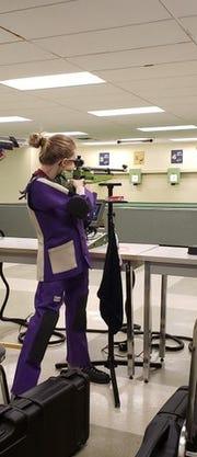 Claudia Muzik participates in a shooting competition