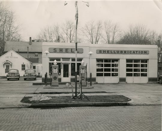 The Wolf Shell Station was located on South Front Street in Fremont back in the 1940s.
