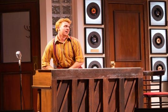 "Brady Wease as Jerry Lee Lewis in Florida Repertory Theatre's ""Million Dollar Quartet"""