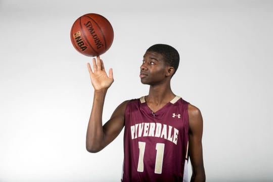 Tyrone Baker, Riverdale, Basketball, Winter All-Area athletes 2019