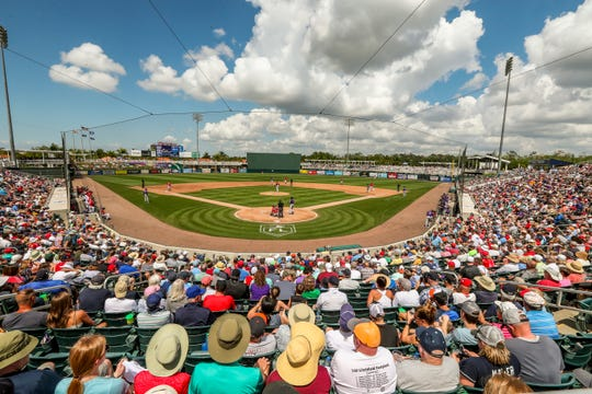 Final spring training game in Fort Myers for 2019. Colorado Rockies came from Arizona to play the Twins on their way to Miami to open the MLB season.