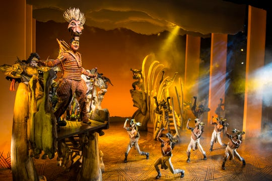"Spencer Plachyas as Scar in the national tour of ""The Lion King"""
