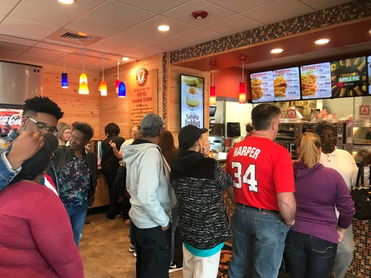 Popeyes Louisiana Kitchen in Greer is full of guests at 3 p.m. on Tuesday, March 26, 2019.