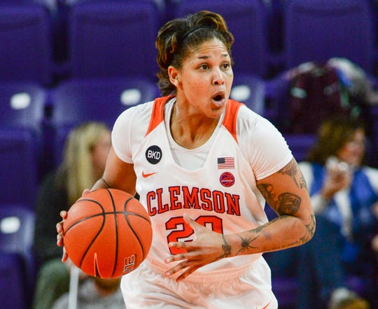 Clemson guard Simone Westbrook(20) during the first half of the game with Georgia Tech at Littlejohn Coliseum in Clemson Thursday, January 17, 2019.