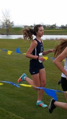 Makayla Cook competes in the 1500 meter run and the 3k for the Argos