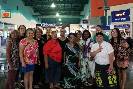 "In celebration of Mes CHamoru (CHamoru Month), the healers from Guma Yo'Åmte – Håya Foundation displayed forms of indigenous healing traditions including cleansing, medicine and massages on March 23 at Guam Premier Outlets. Pictured from left: Frances Meno, Sakae, Christina Alvarez, Zita Pangelinan, Carmen Kanazawa, Betty Malakai, Lou Longa, ""Mama Chai"" Mateo, Marlene Mateo, Susan Aguon, Dr. Heidi Semanie, Bobbie Tainatongo and Clarissa Torres."
