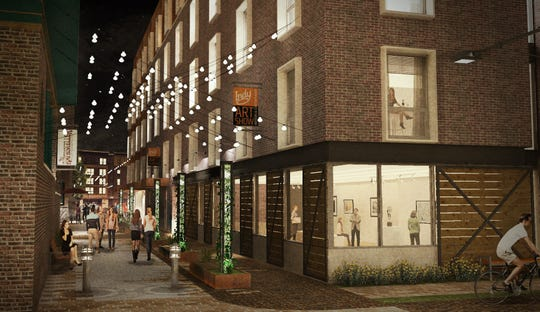 A rendering of the Block 20 development, which would be built on the surface lot next to the Athenaeum and Rathskeller.
