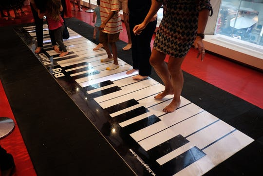 """The movie """"Big"""" and FAO Schwarz's Fifth Avenue New York store helped make Remo Saraceni's invention famous. A piano like this one will visit Indianapolis."""