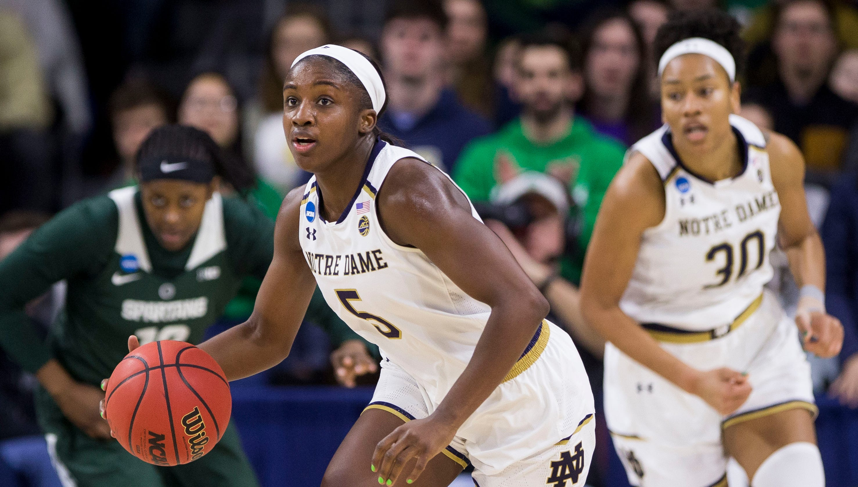 Notre Dame Women Advance To Basketball Sweet 16: Notre Dame Women's Basketball Beats Michigan State