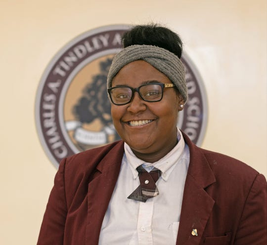 Leila Champion, senior at Charles A. Tindley Accelerated School, founder and creator of The Champion Project
