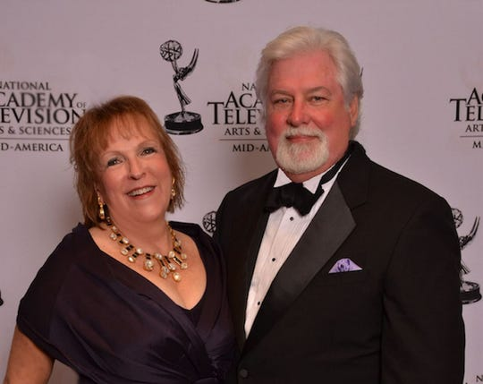 Producer Marie Wilkes and Director Kevin Kelly at the Mid-American Emmys.