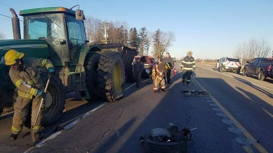 State Route 222 was closed for two hours for clean-up.