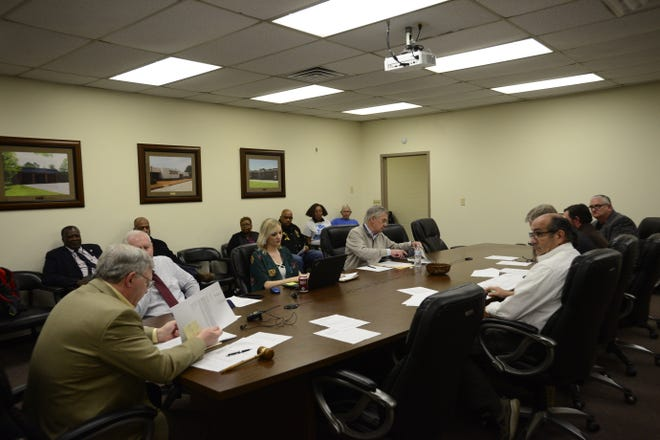 The Madison County Ethics Committee meets at the Madison County Finance Department Complex on March 26 in Jackson, Tenn.