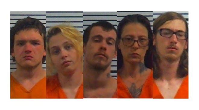 Terry Martindale, 20, Kaci Bercham, 19,  Steven Sparks, 23, Betty Sparks, 45, and Michael Mayfield, 19, face multiple charges, including first-degree murder, in connection with the death of one man and serious injury of a woman during a Middleton home invasion Friday.