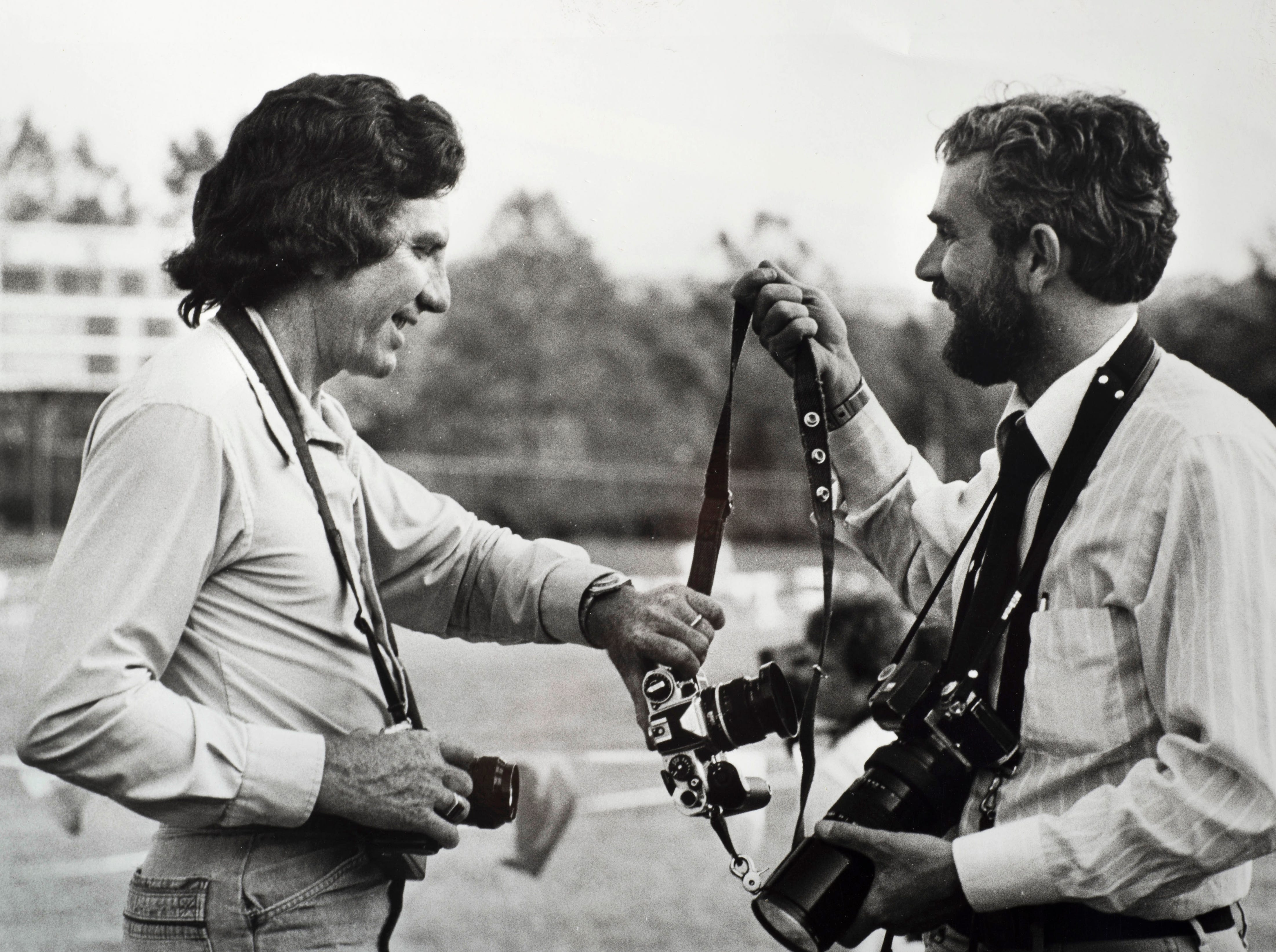 News Sentinel staff photographers Jack Kirkland, left, and J. Miles Cary are pictured circa 1979.