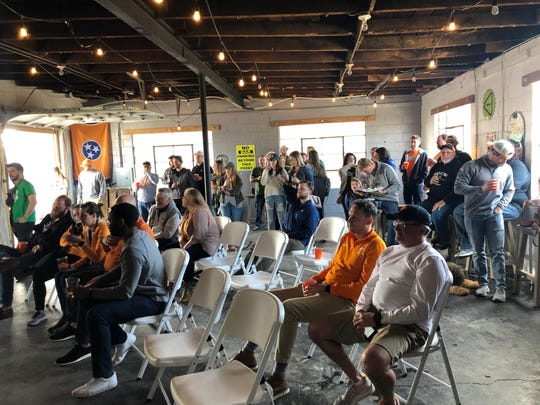 The back building at Hops and Hollers will act as overflow for fans watching the Sweet 16 match-up between the Tennessee Volunteers and Purdue Boilermakers on March 28, 2019.
