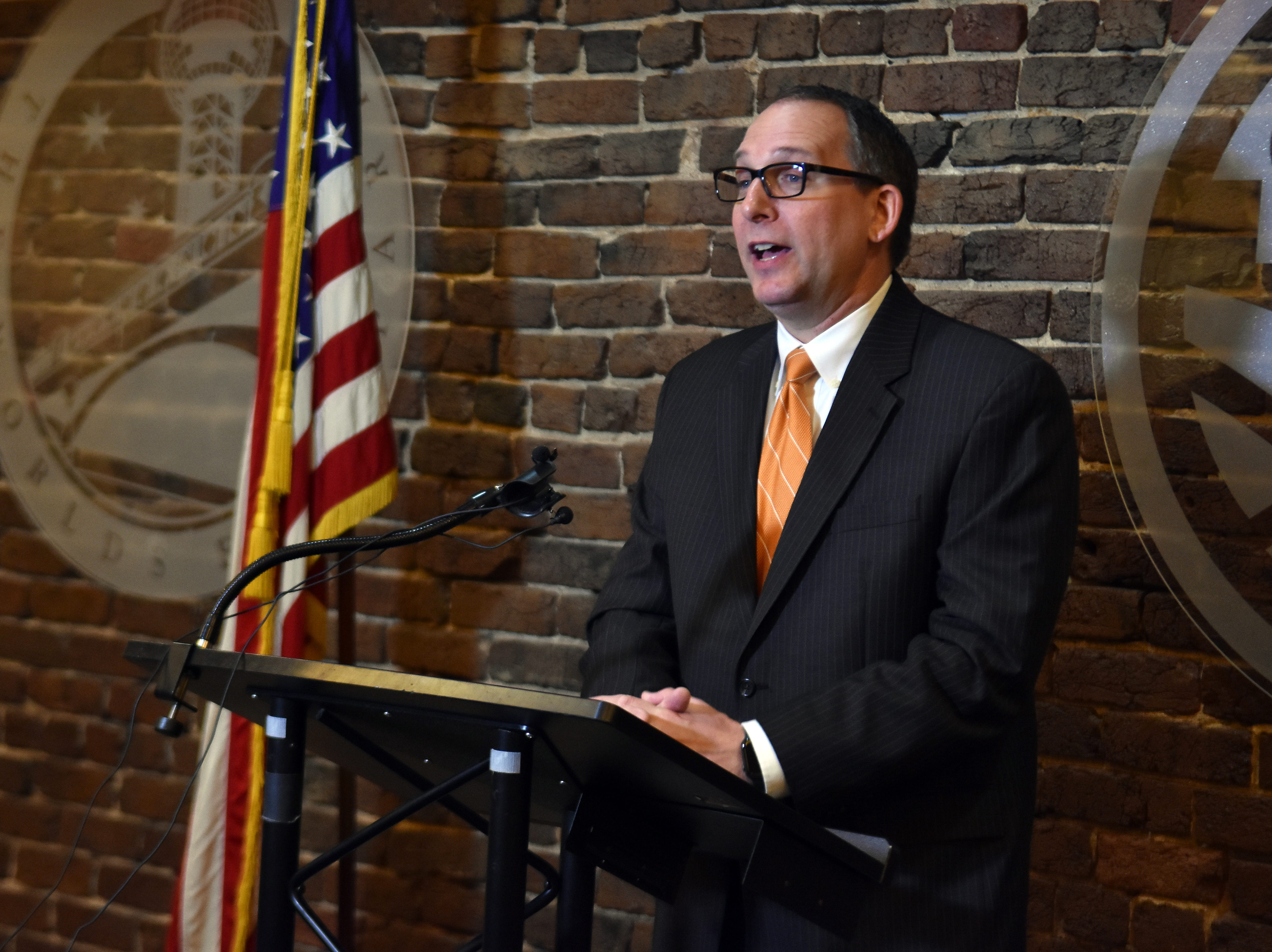 Mike Odom was named the new CEO of the Knoxville Chamber during a press conference on Tuesday, March 26.