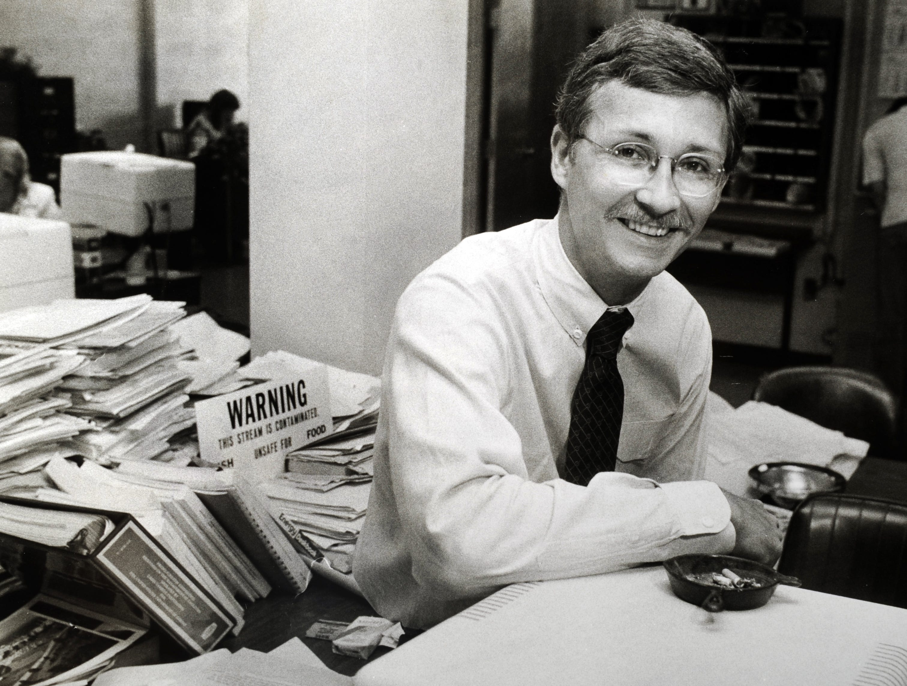 Frank Munger, Knoxville News Sentinel reporter in a photograph circa 1984.