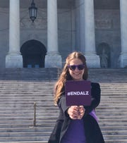 Lauren Kovach, 37, attended the Alzheimer's Impact Movement Advocacy Forum in spring 2018 as an ambassador for the Alzheimer's Association.