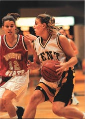 Gwen Schwemley (nee Hurley), mother of Shelby's multi-sport standout Uriah Schwemley, made the Mid-American Conference All-Freshman Team for Kent State after winning Ohio Player of the Year honors and leading Upper Scioto Valley to a pair of state championships.