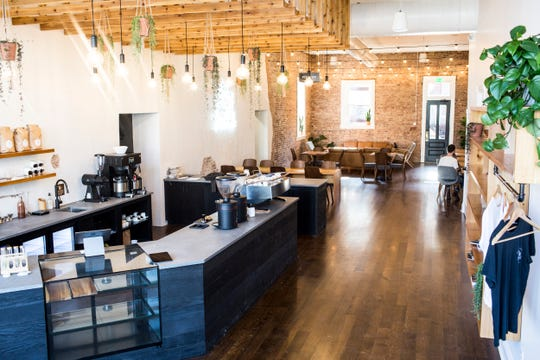 March 26, 2019 - A look inside of Comeback Coffee at 358 North Main Street in the Pinch District. Comeback Coffee officially opens on March 29.