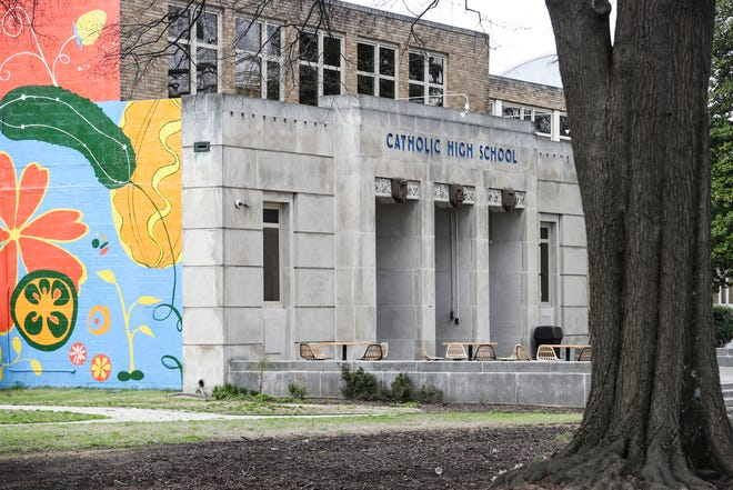 March 25, 2019 - The Memphis Catholic High School building at 61 N McLean Boulevard is one of the buildings that Compass Community Schools are leasing from the Catholic Diocese.