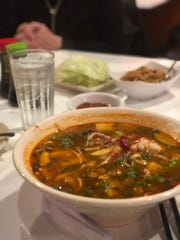The spicy Ma La Noodle Soup at Asian Eatery in Germantown.