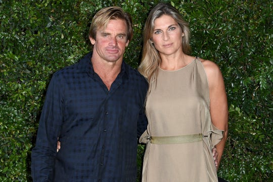 Laird Hamilton, left, and Gabrielle Reece in 2018.
