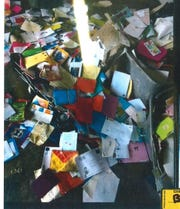 About 6,000 stolen greeting cards were found inside a car belonging to Ebony L. Smith. Smith, a postal worker, admitted to stealing more than 6,000 greeting cards filled with cash and checks in Wauwatosa from April 2017 to January 2018.