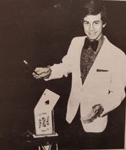 Mark Bonchek in 1981, performing with the Nicolet Magic Company