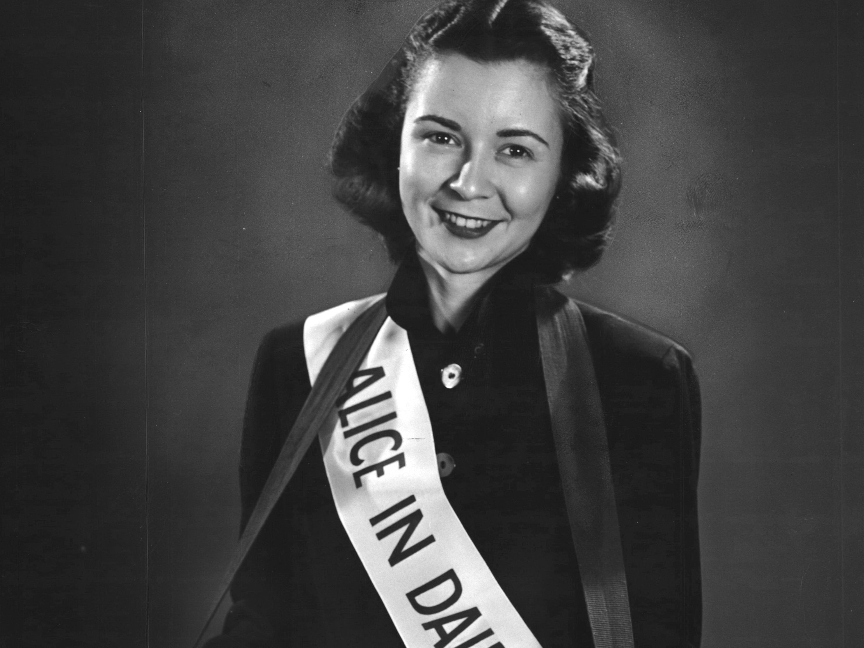 1948: After WWII, the Milk Marketing Board created the Alice in Dairyland spokesperson to promote its products across the country. Miss Margaret McGuire of Highland was the first to hold the position.
