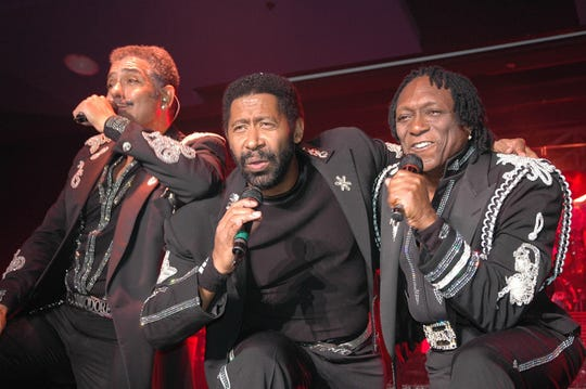 """James """"J.D."""" Nicholas, from left,  William King and Walter 'Clyde' Orange are members of the band the Commodores."""