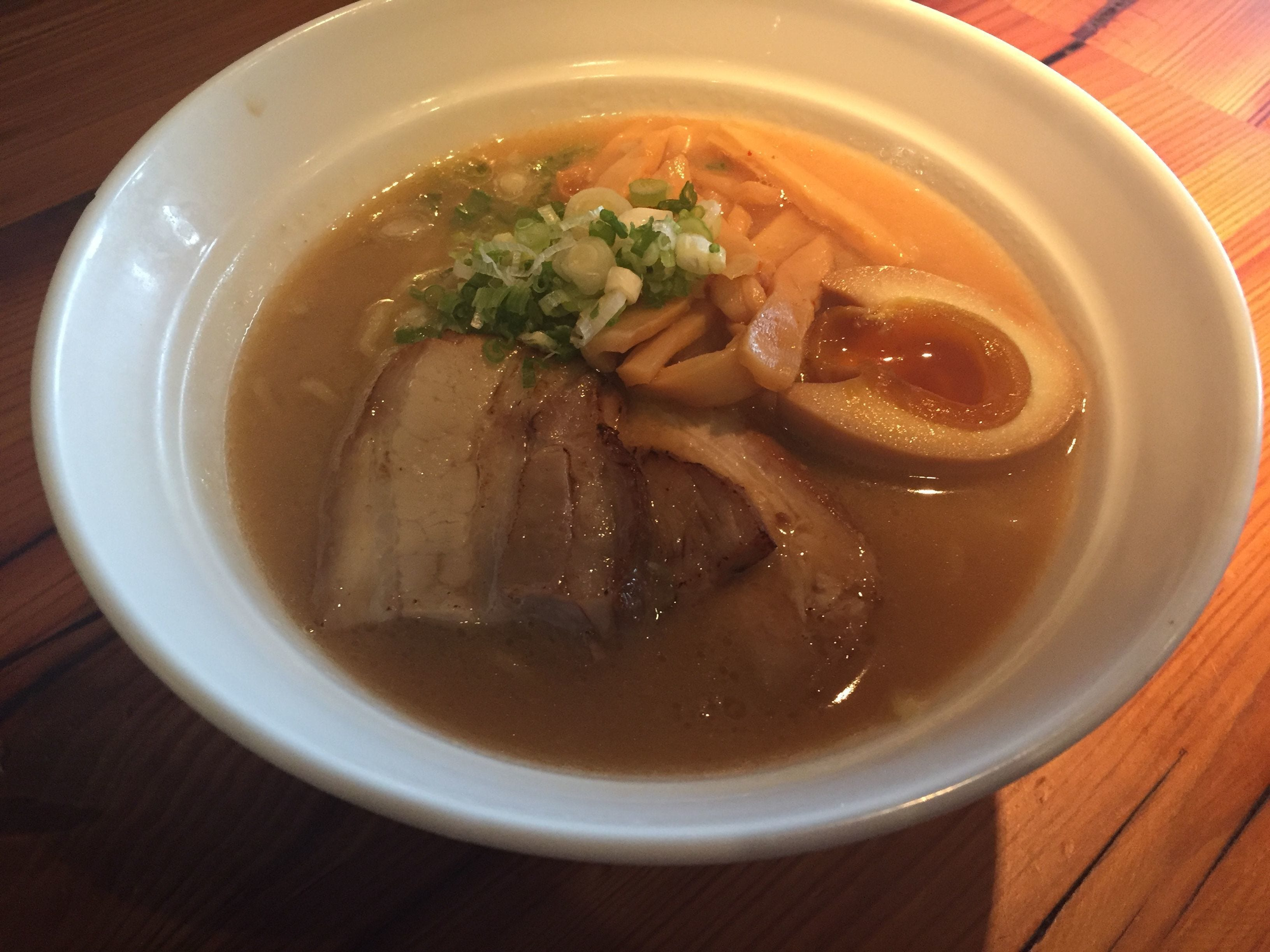 Miso ramen with pork and boiled egg at Zundo in Over-the-Rhine