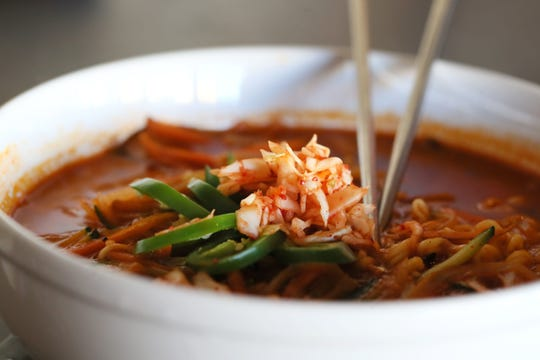 The spicy miso ramen bowl is available at Brother's Noodle Bar in Murfreesboro.