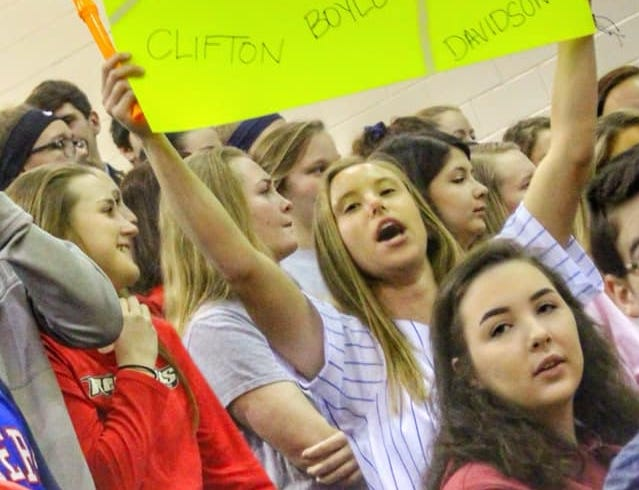 Creek Wood High School's spring sports pep rally in March.