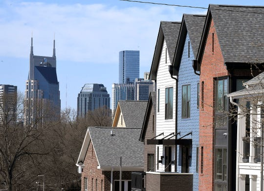 A view of downtown Nashville can be seen from Kirkpatrick Park mixed-income development on Tuesday, March 26, 2019.  Mayor David Briley held a news conference there announcing a $500 million affordable housing push over the next 10 years.