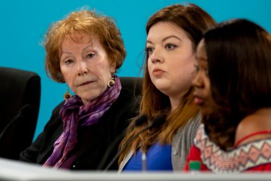 Nashville school board Jill Speering member during a Metropolitan Nashville Board of Public Education meeting at the board chambers in Nashville, Tenn., Tuesday, March 26, 2019.