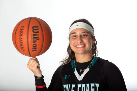 Gulf Coast High School senior basketball player Mya Giusto