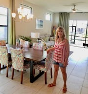 Jackie Walker loves her new home in Venetian Pointe due in part to the floorplans open feel and high ceilings.