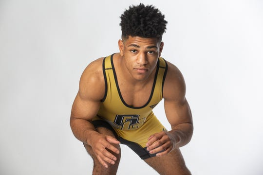 Golden Gate High School senior wrestler Gerald Roger