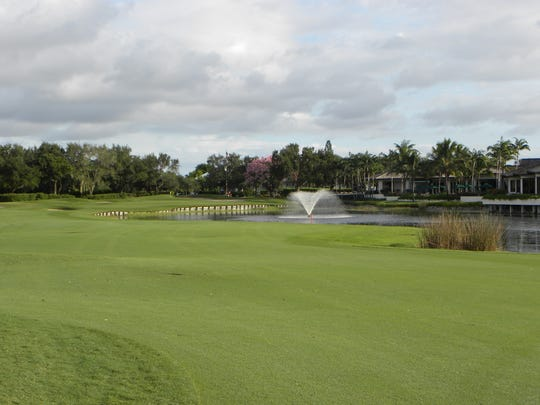 A view of the 9th hole on the Club Course at The Club Pelican Bay in North Naples. The club announced a renovation to its 27-hole golf course beginning in April 2019.