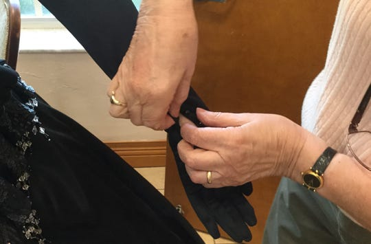 Quick changes will require help with the buttons on long gloves.